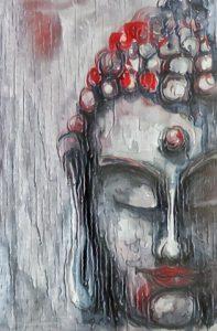 Buddha 050320321 in the rain