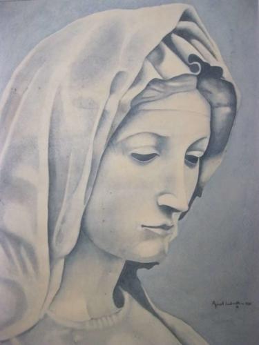 Aquarell - Madonna von Medici