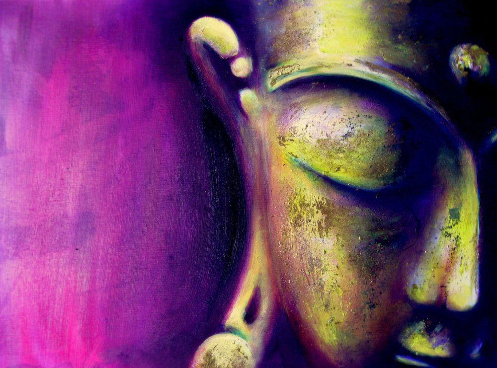 Buddha Magenta - Buddha Painting