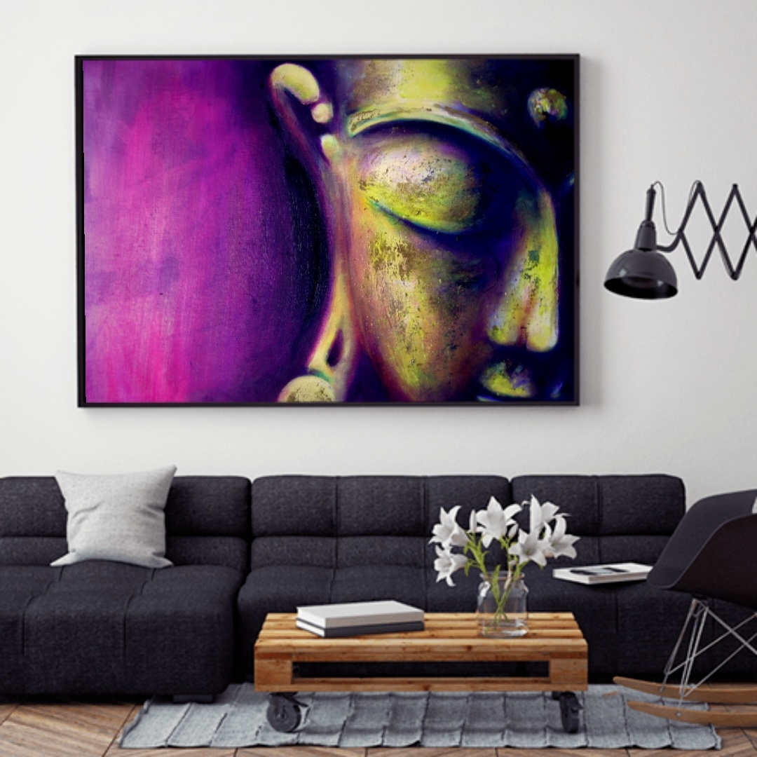 Buddha Painting The Magenta One